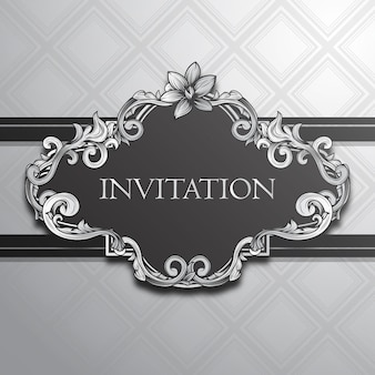 Elegant uitnodigingsontwerp