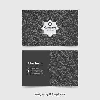 Elegant visitekaartje met mandala