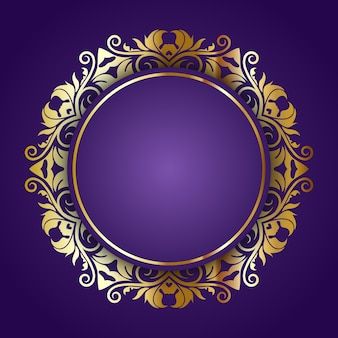 Elegante achtergrond met decoratieve gouden frame