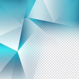 Elegante blauwe kleur transparante veelhoek achtergrond
