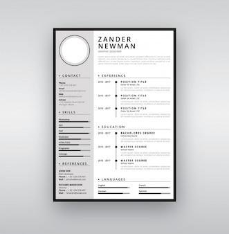 Elegante CV-sjabloon