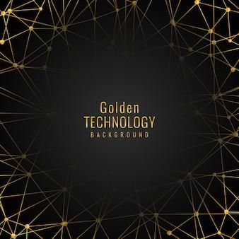 Elegante gouden technologie achtergrond