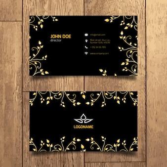 Elegante gouden visitekaartje