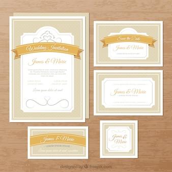 Elegante huwelijksuitnodigingen