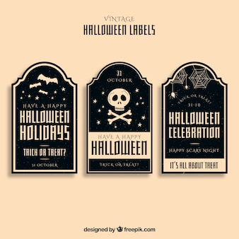 Elegante set Halloween labels