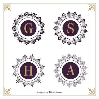 Elegante Typografie Set