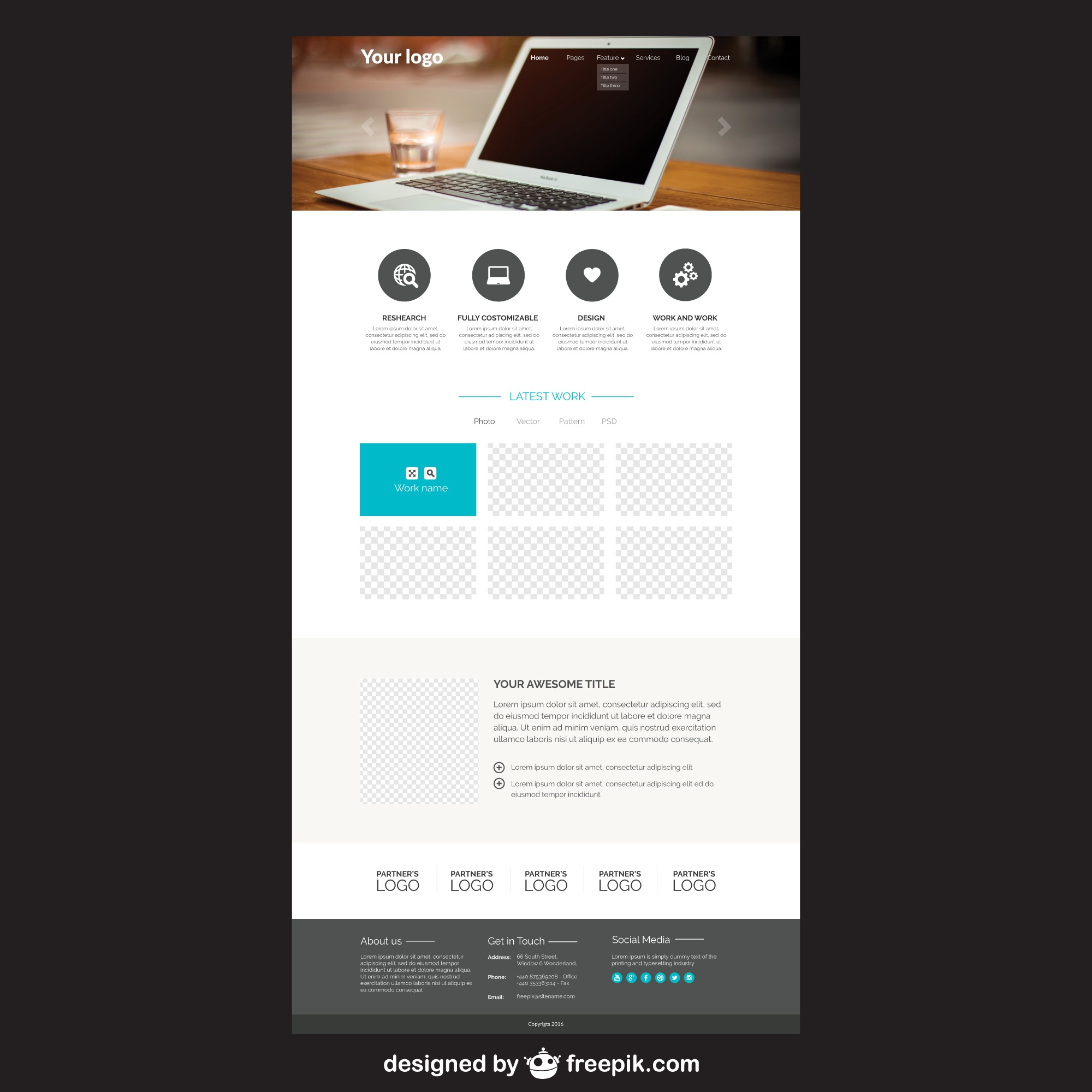 Elegante website template