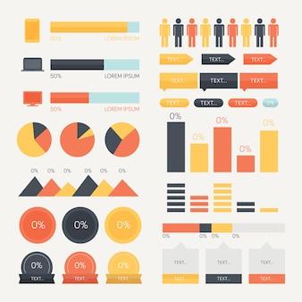 Elementen voor een technologisch thema infographic