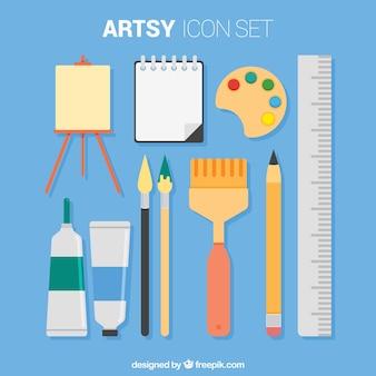Elementen voor het schilderen