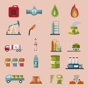Energie iconen collectie