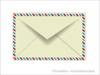 Enkele vertrouwelijke envelop vector