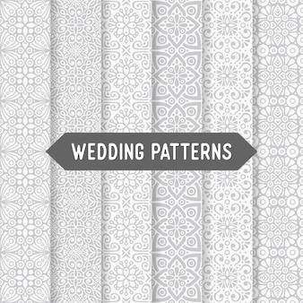 Etnische bloemen bruiloft naadloze patroon Abstract sierpatroon