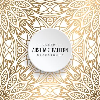 Etnische bloemen naadloze patroon met mandalas