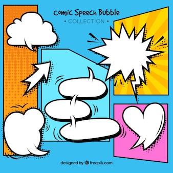 Expressieve komische stijl speech bubbles collectie