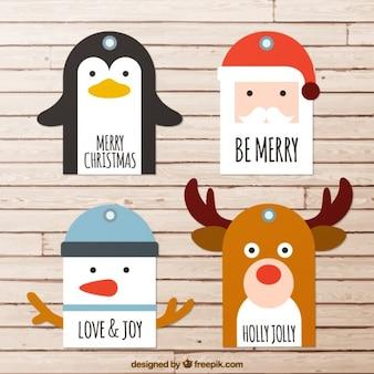 Fancy kerst karakters