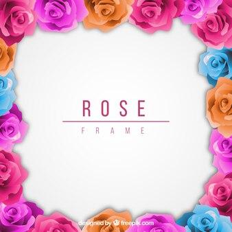 Fantastic kader van gekleurde rozen