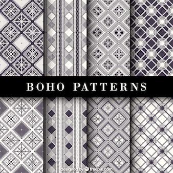 Fantastische etnische patronen met geometrische decoratie