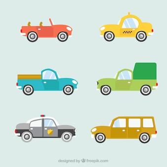Fantastische selectie van gekleurde auto's