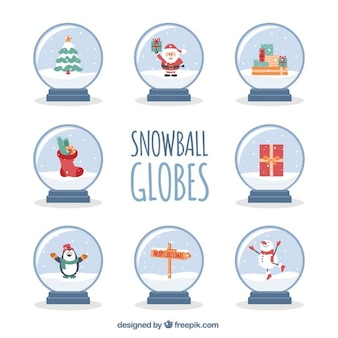 Fantastische sneeuwbal globe collectie