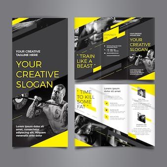 Fantastische Trifold Brochure Sjabloon