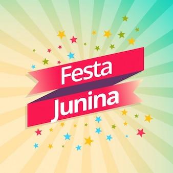 Festa Junina achtergrond partij viering
