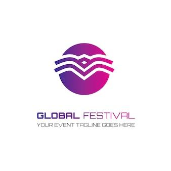 Festival logo ontwerp