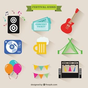 Festival pictogrammen