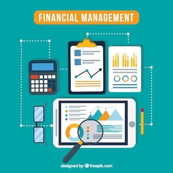 Financieel concept met moderne elementen