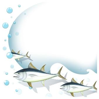 Fishes achtergrond ontwerp