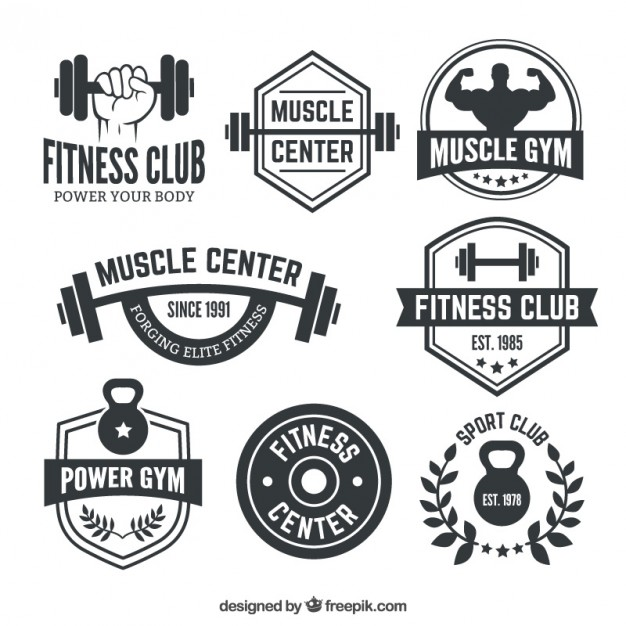 Fitness club badges