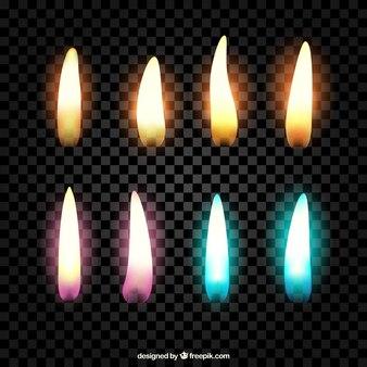 Flames verzameling van verschillende kleuren
