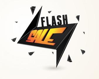 Flash verkoop papier banner of tag ontwerp.