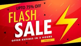 Flash verkoop vector reclame banner voor korting en aanbiedingen