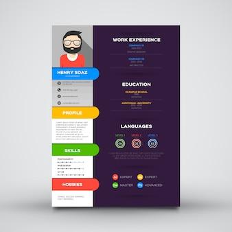 Flat cv template