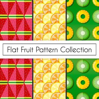 Flat fruit patroon collectie