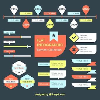 Flat nuttig infographic elementen voor infographics