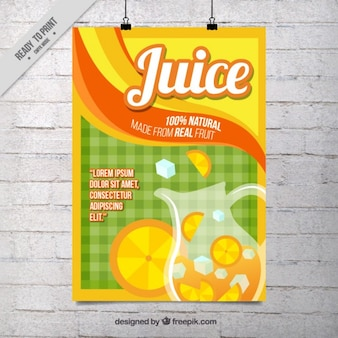 Flat sinaasappelsap poster