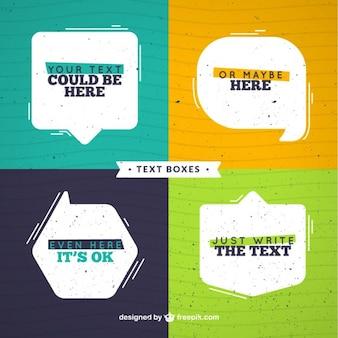 Flat tekstballonnen set met tekst
