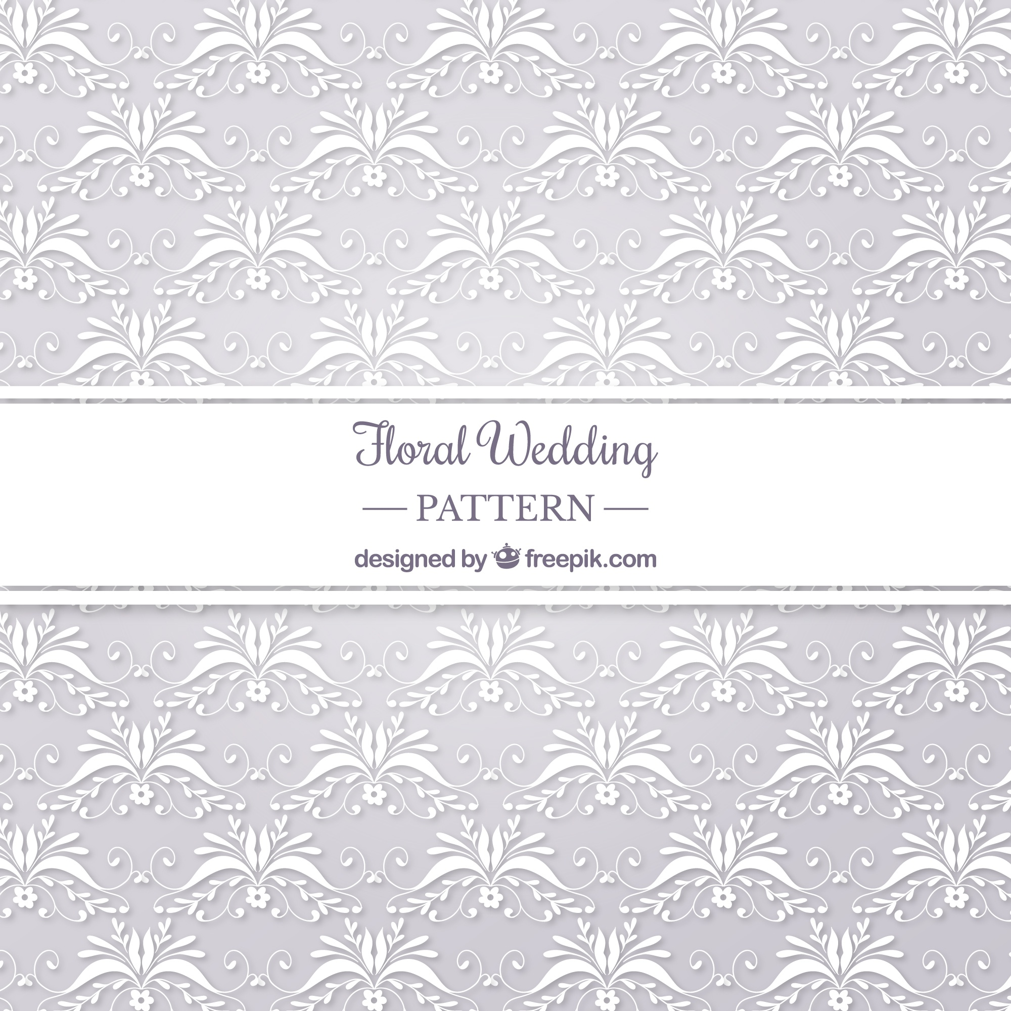 Floral wedding pattern backgorund