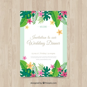 Florid wedding invitation