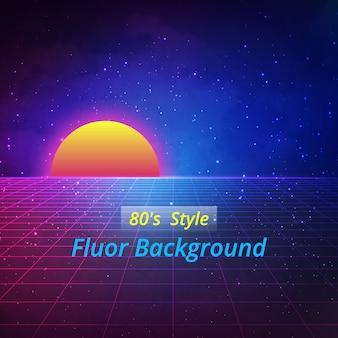 Fluor achtergrond ontwerp