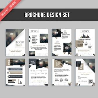 Flyer ontwerp set