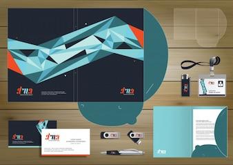Folder Template ontwerp voor digitale technologie bedrijf. Element van briefpapier, mensen gemeenschap vrienden presentatie ontwerp gebruikt voor zakelijke of werkbevordering,
