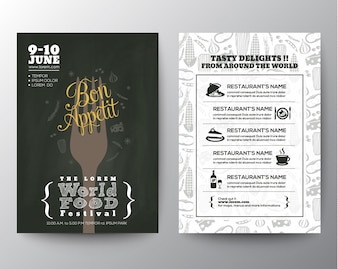Food Festival Poster Brochure Flyer design template