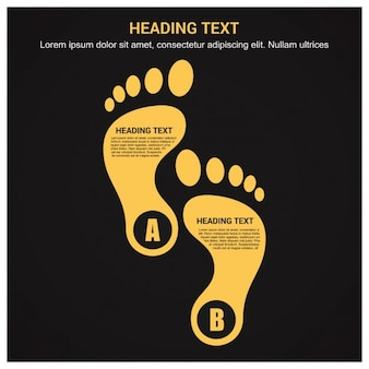 Foot modern design template infographics