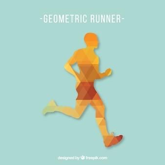 Free running man vector