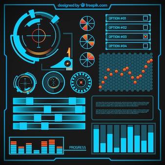 Futuristische infographic ontwerp