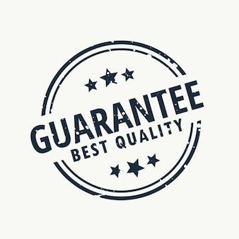Garanderen de beste kwaliteit stempel