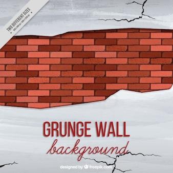 Gebroken muur met scheuren