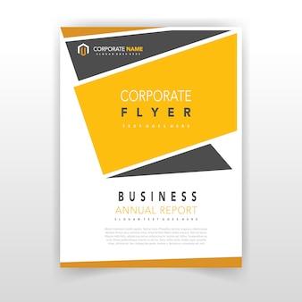 Geel coporate flyer ontwerp